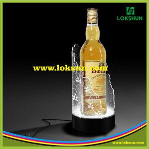Bouteille de vin en acrylique LED glorifier, bouteille d'affichage glorifier