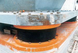 Terremoto Seimisic amortiguador de alta del sistema de rodamiento de caucho