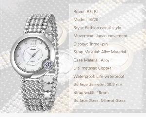 De oro,diamantes de color plata Flor Damas Relojes de Pulsera de cuarzo joyas Japón PC21 Relojes de lujo para las mujeres Belbi marca Made in China