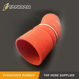 Coloridas flexible de 76mm de la manguera de caucho de silicona con curvas