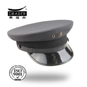 Planície Marinha Estilo Personalizado Coronel Hat com correia preta