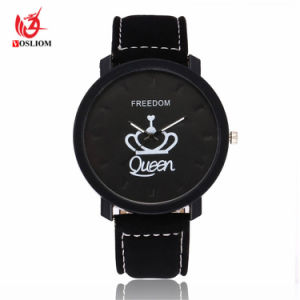 Großverkauf kundenspezifische Vorwahlknopf-Paar-Armbanduhr für Geliebte - V98