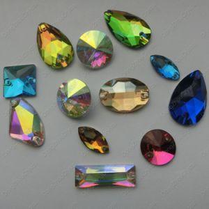 Het Kristal van de Prijs van de fabriek naait op Bergkristal van de Losse Toebehoren van het Kledingstuk van het Glas