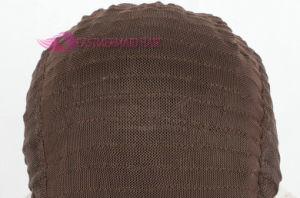 Brown Synthetic Lace Front Peruca com raízes escuras resistente ao calor