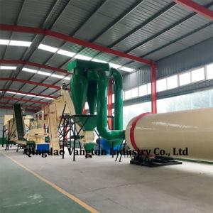 control PLC prensa de pellet de madera completa línea de producción de pellets de madera