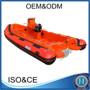 中国Rib580の堅く膨脹可能なボートの肋骨のボートのHypalonのボート