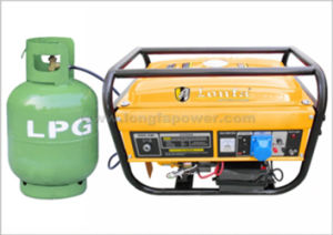 販売のためのホーム使用3kw/3kVAの電気開始の天燃ガスLPGガソリン発電機