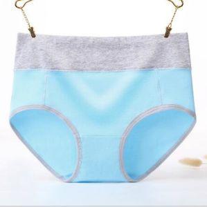 Comercio al por mayor barato medio Underpant fábrica de algodón puro de la cintura de la mujer Panty