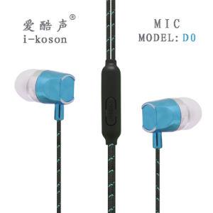 顧客用ヘッドセットの耳6colorのイヤホーンをワイヤーで縛ること