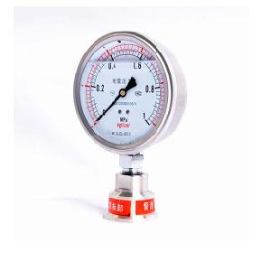 60mmの正確さ1.6%の耐衝撃性の圧力計