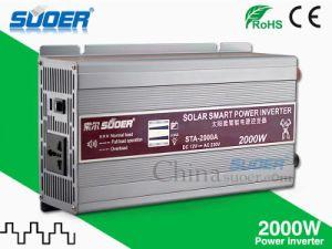 Suoer Inversor de potencia de 2000W inversor solar de 12V a 220V (STA-2000A)