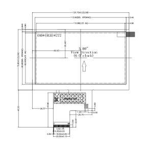 5 het Comité van de Resolutie 480*272 TFT LCD van de duim voor Apparatuur