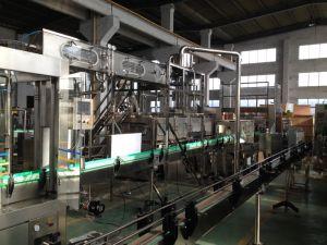 자동적인 유리제 1대의 씻기 채우는 캡핑 기계에 대하여 플라스틱에 의하여 탄화되는 이산화탄소 음료 3