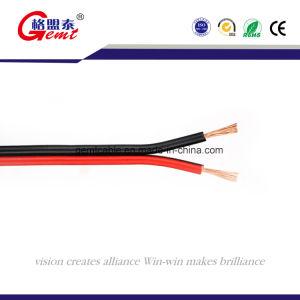 O cabo do alto-falante flexível transparente OFC, isolamento de PVC de 2 Core ouro ou prata, o cabo do altifalante plano transparente