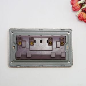 Logo personnalisé 2 Piste Interrupteur mural double socket W/N