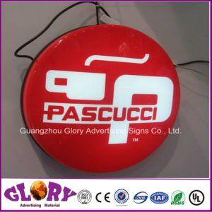 Einzelner seitlicher Acrylheller Kasten der anschlagtafel-LED
