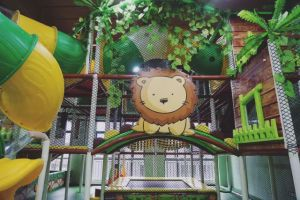 Thème de la jungle Amusement Park Naughty Castle pour centre de jeux intérieur