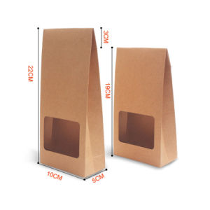 習慣によって光沢紙の食料雑貨のギフトのHandl印刷される袋