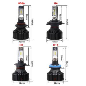 24PCS Zesチップ60W LED車ヘッドライトH11のT8自動車LEDのヘッドライト