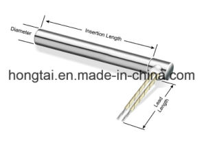 ステンレス鋼のホースが付いている直角のカートリッジヒーター