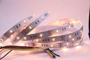 RGB+ White+ scaldano la lampada al neon bianca della striscia della flessione LED di 5050SMD 60LED/M CRI>90 LED per la barra chiara della decorazione