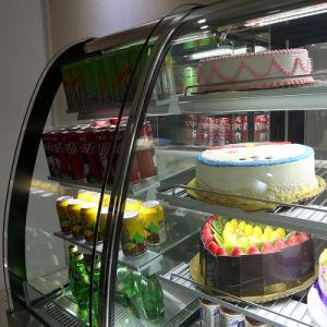 De voor Gebogen Dubbele Showcase van de Cake van de Temperatuur voor Koffie
