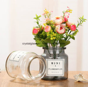 Mini Vase en verre de fleurs de couleur de peinture