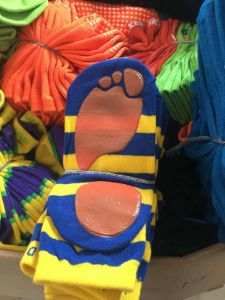 0,35 dólares Stock calcetines antideslizante con agarre de goma