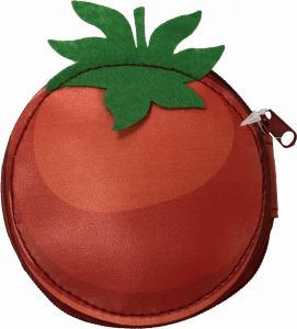 Moneda de tomate PU Bolso Bolso de compras de frutas