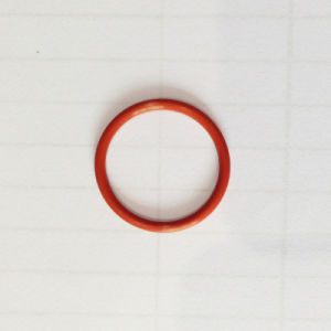 De rode Uitstekende O-ring van het Silicone van de Compressie van de Hitte Bestand