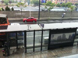 La transparence de haute qualité Thin Film panneau solaire pour le projet de station de bus