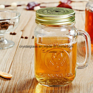 480ml正方形ジュースの飲むガラスのメーソンジャーの卸売