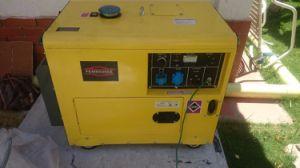 5 квт с водяным охлаждением воздуха Электрический пуск переносной генераторной установки дизельного двигателя