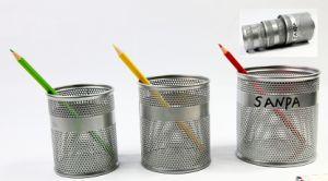 금속 메시 사무실 문구용품 Pounching 펜 홀더 연필 컵