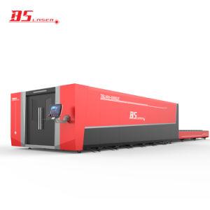 De 6000*2500 haut standard acier au carbone Clos de la faucheuse laser à fibre métallique en aluminium avec plate-forme Exchange