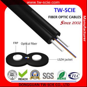 LSZH de Daling van de Schede FTTH de Optische Kabel van de Vezel van de Kabel/2 Kern met Zelfstandige FRP