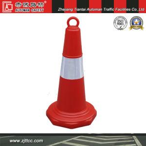 Cône de la sécurité du trafic réfléchissant orange avec des chaînes les trous (CC-A06)