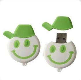 微笑の表面PVC USBのメモリ棒限定されるMOQ無し