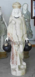 Het snijden van Standbeeld van het Beeldhouwwerk van de Steen het Marmeren voor de Decoratie van de Tuin (sy-C1287)