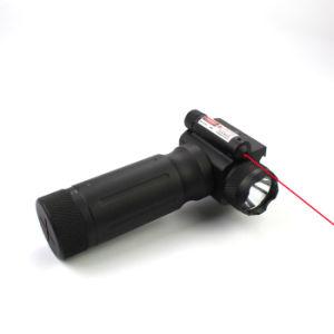 Mango táctica 750 lúmenes LED linterna con láser rojo