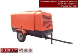 携帯用移動式対回転子高圧ねじ空気圧縮機