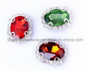 De vrije Steekproef naait op het Plaatsen van de Klauw van het Bergkristal Kristallen voor kleren (sW-Ellips 10*14)