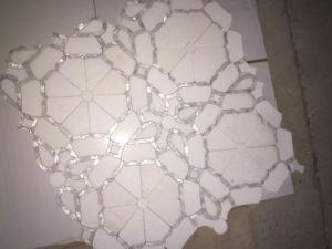 De unieke Shell van de Moeder van het Ontwerp van de Bloem van Parel Tegel van het Mozaïek van de Straal van het Water
