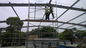 Promoción! ! ! Edificio de estructura de acero profesional