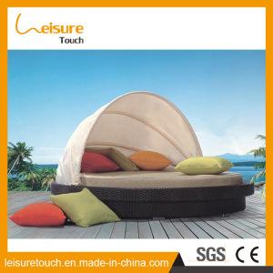 Freizeit-Rattan-StuhlSundaybed-Strand-Weidenliegenbett-Haupthotel-Garten-im Freienmöbel