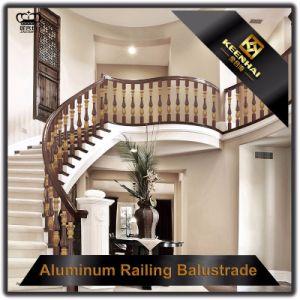 Lujo interior bronce aluminio barandillas para escaleras Lujo