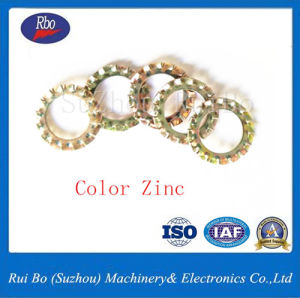 DIN plaqué zinc6798un ressort en acier dentelé externe de la rondelle de blocage