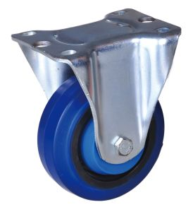 Brake, Rubber Wheel를 가진 편평한 Plate Swivel Caster
