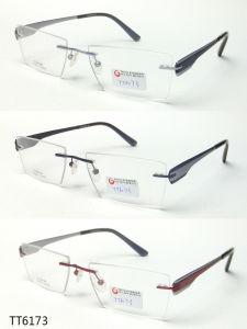 Het super Dunne en Lichte Optische Frame van Frameless van het Titanium (TT 6173)