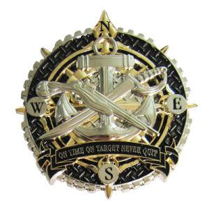 Kundenspezifische spezielle Goldmetallherausforderungs-Münze der Form-Qualitäts-Form-3D (189)